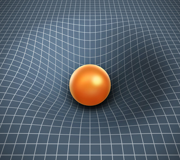 gravity 3d illustration - object affecting space / time