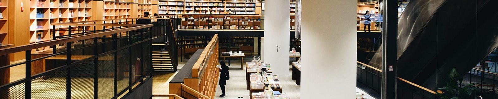 Hintergrundbild Bibliothek – Fachbereich Betriebswirtschaftslehre BWL
