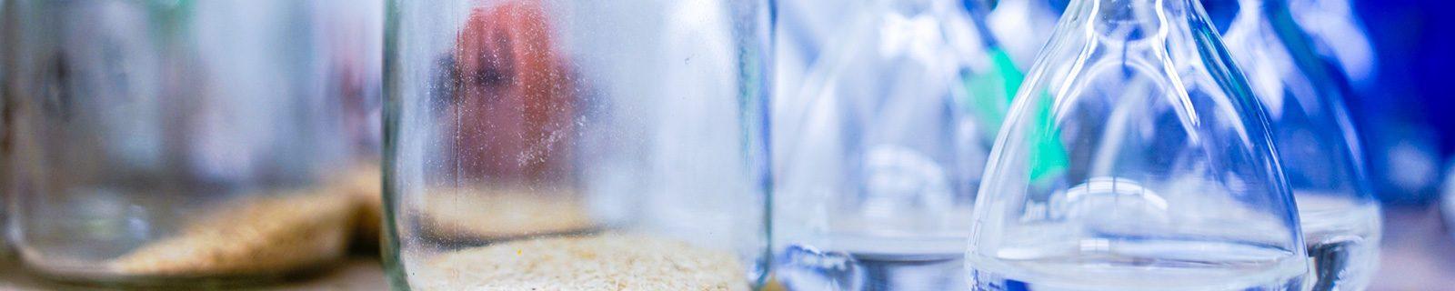 Hintergrundbild Gläser – Fachbereich Biologie
