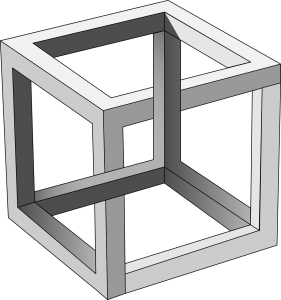optische Täuschung Würfel