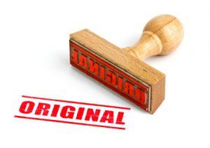 Kopie und Original