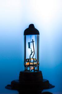 Detaillierte Aufnahme einer Lampe - Physik
